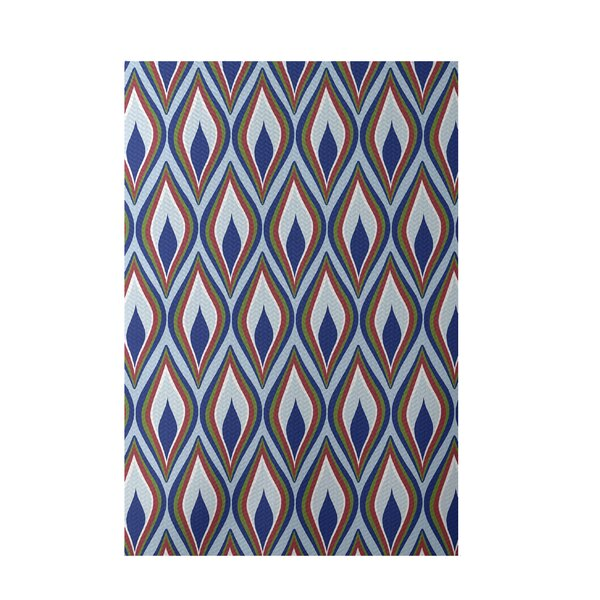 Royal Blue Indoor/Outdoor Area Rug by e by design