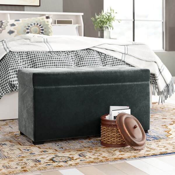 Thursa Upholstered Storage Bench by Three Posts
