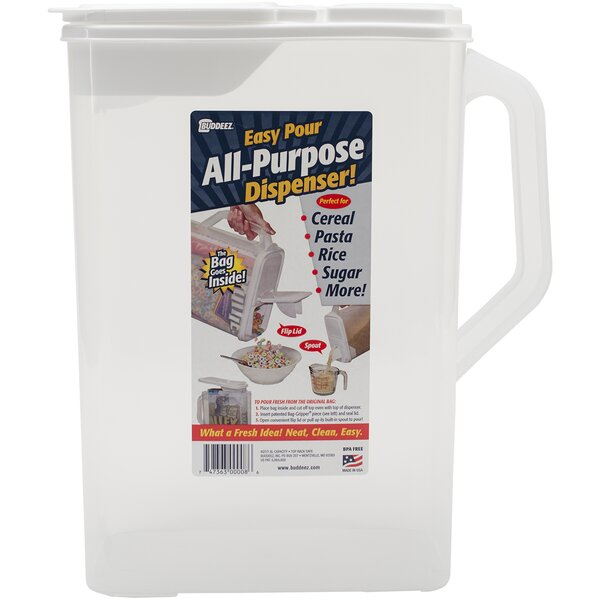 256 Oz. Single Cereal Dispenser by Buddeez