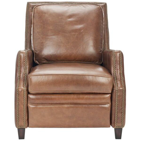 Bischof Leather Manual Recliner By Darby Home Co