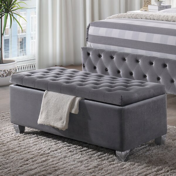Crowle Upholstered Flip Top Storage Bench By Everly Quinn