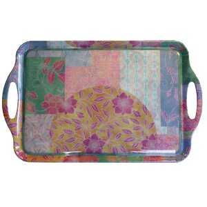 Flower Decor Serving Tray