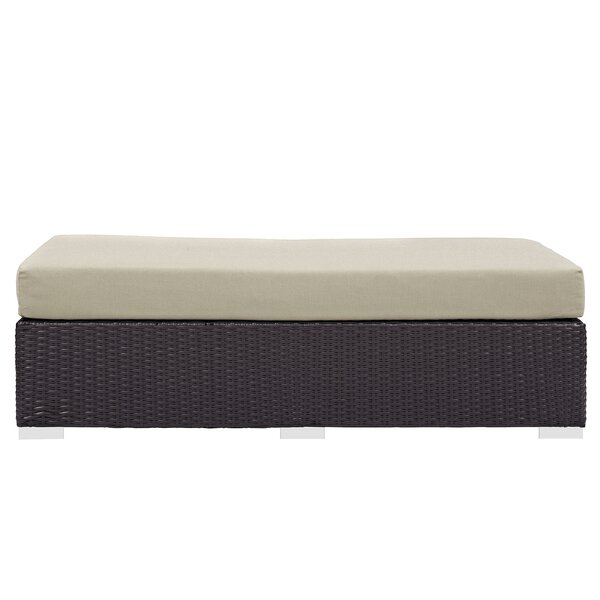 Brentwood Rectangle Outdoor Ottoman With Cushion By Sol 72 Outdoor by Sol 72 Outdoor Best Choices
