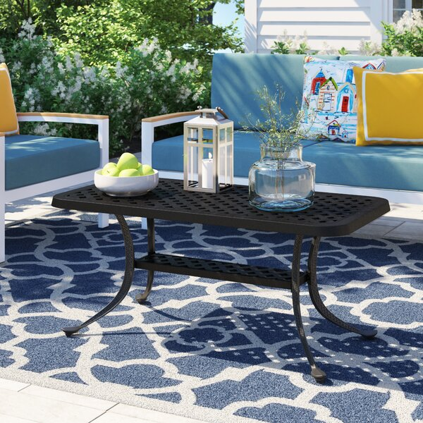 Carmen Aluminum Coffee Table by Sol 72 Outdoor