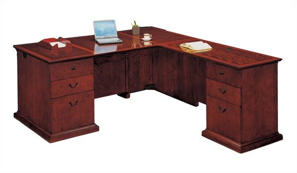 Del Mar L-Shape Executive Desk by Flexsteel Contract