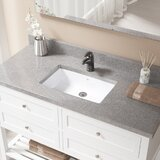 Vitreous China Rectangular Undermount Bathroom Sink with Overflow by MR Direct