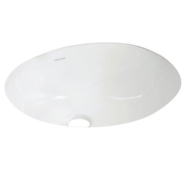 Wescott Ceramic Circular Undermount Bathroom Sink with Overflow by Sterling by Kohler