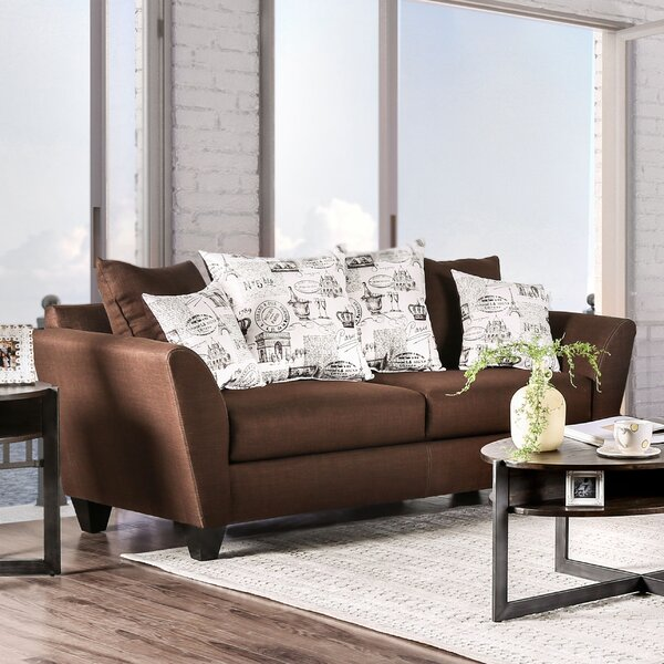 Modern Collection Nevers Contemporary Sofa by Latitude Run by Latitude Run