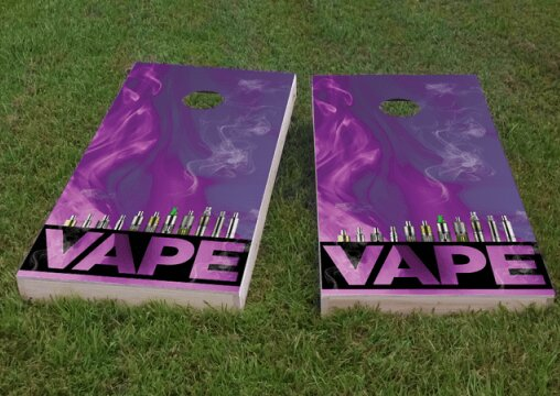 Electronic Cigarette and Vape Cornhole Game (Set of 2) by Custom Cornhole Boards