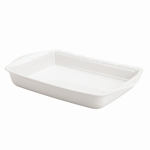 Opal Innocence Carved Rectangular Baker by Lenox