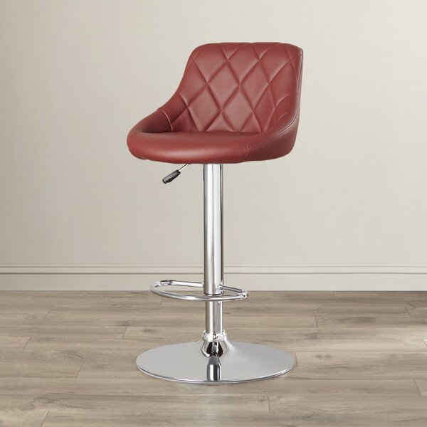 Clay Adjustable Height Swivel Bar Stool by Wade Lo