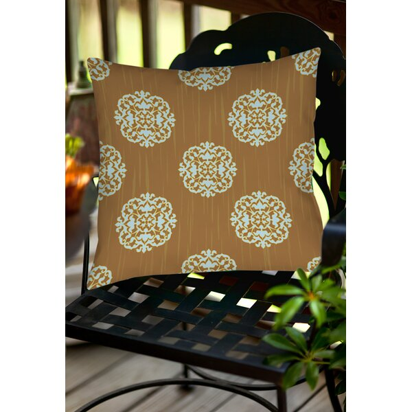 Bold in Blue Medallion Indoor/Outdoor Throw Pillow by Manual Woodworkers & Weavers