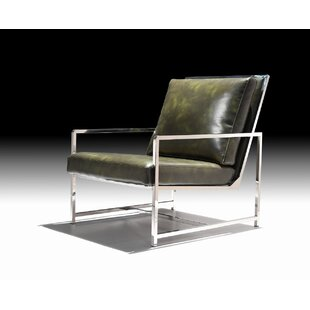 Reviews Angelio Leatherette Armchair by Orren Ellis