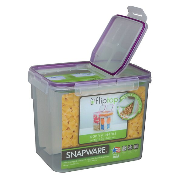 Flip Top 136 Oz. Rectangular Food Storage Container by Snapware