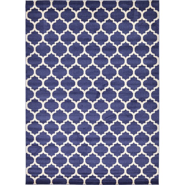 Coughlan Blue/Ivory Area Rug by Charlton Home
