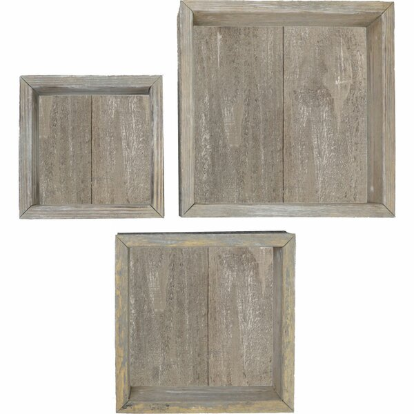 Parham Vintage Farmhouse Shadow Box 3 Piece Wall Shelf Set by Gracie Oaks