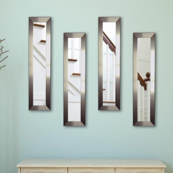 4 Piece Wanneroo Petite Panels Mirror Set by Wrought Studio