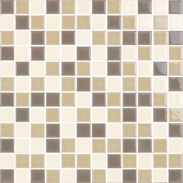 New Blendz 1 x 1 Glass Mosaic Tile in Caramel by Epoch Architectural Surfaces