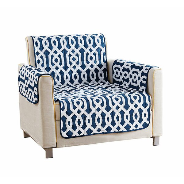 Reversible Waterproof Microfiber T-cushion Armchair Slipcover by Red Barrel Studio