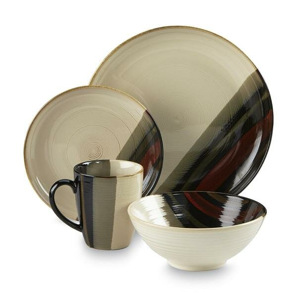 Alpha 16 Piece Dinnerware Set, Service for 4 by Sango