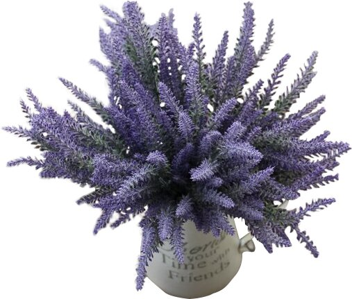 Artificial Flower Lavender Bouquet for Home Decor and Wedding Decoration (Set of 8) by Heart to Heart