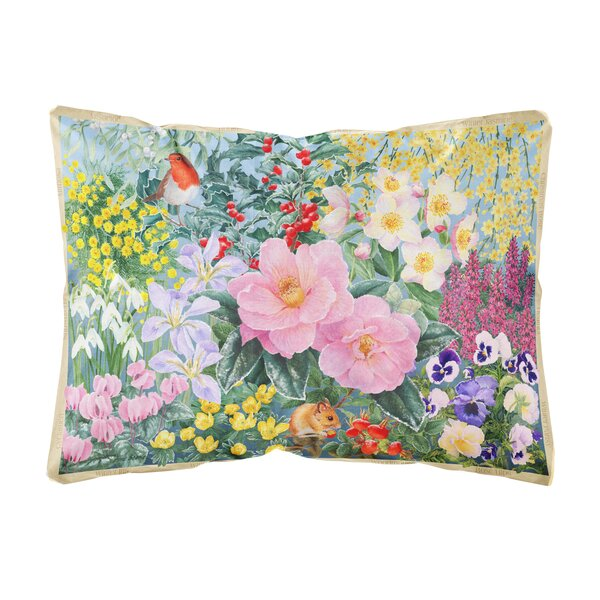 Ruckman Winter Floral by Anne Searle Fabric Indoor/Outdoor Throw Pillow by Winston Porter