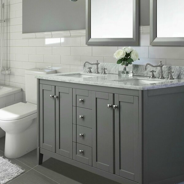 Shelton 60 Double Bathroom Vanity Set by Ancerre Designs