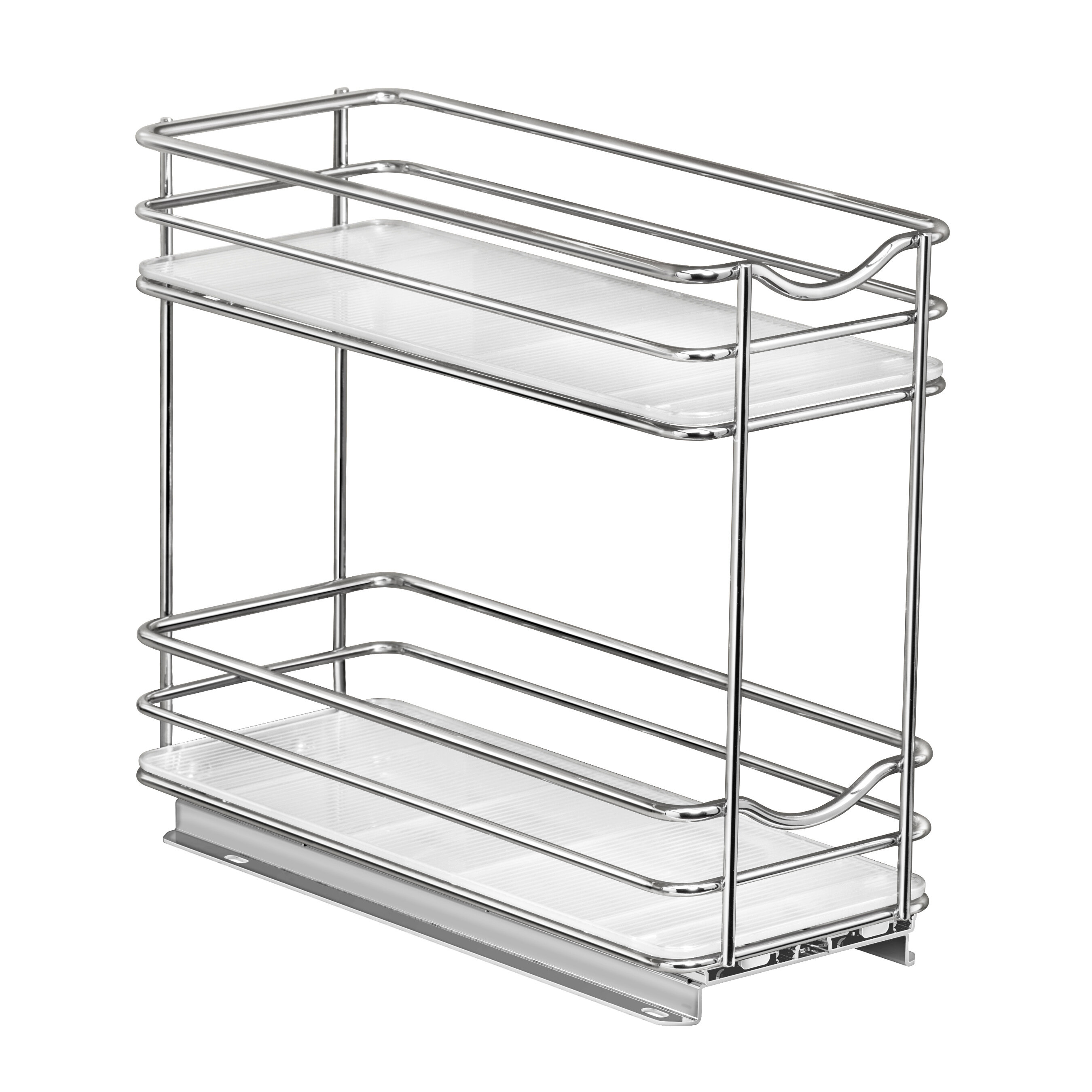 Image of: Lynk Professional Slide Out Double Upper Cabinet Organizer 20 Jar Spice Rack Reviews Wayfair