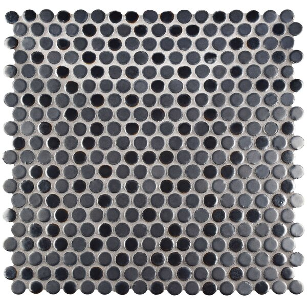 Astraea 0.62 x 0.62 Porcelain Mosaic Tile in Silver by EliteTile