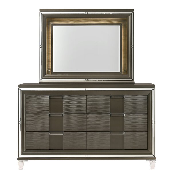 Gilmore 6 Drawer Double Dresser with Mirror (Set of 2) by Mercer41