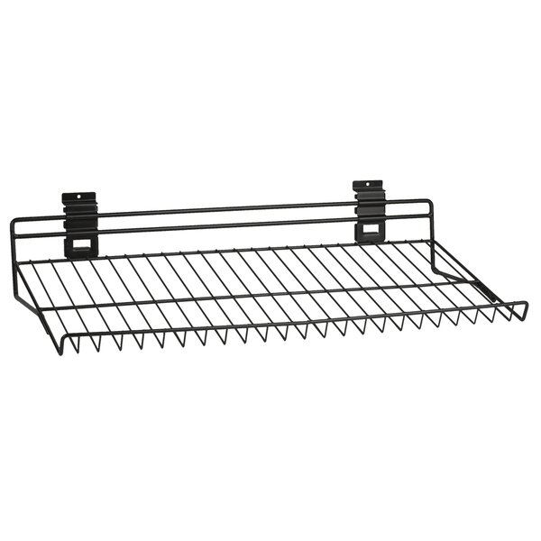 Slat Wall Angled 1-Tier Shoe Rack by Viper Tool St