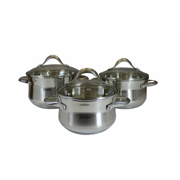 6-Piece Stainless Steel Cookware Set by Smakfest
