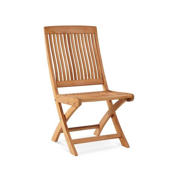 Godwin Folding Teak Patio Dining Chair by Breakwater Bay