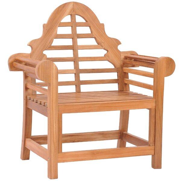 Passarelli Teak Patio Dining Chair by Bloomsbury Market Bloomsbury Market