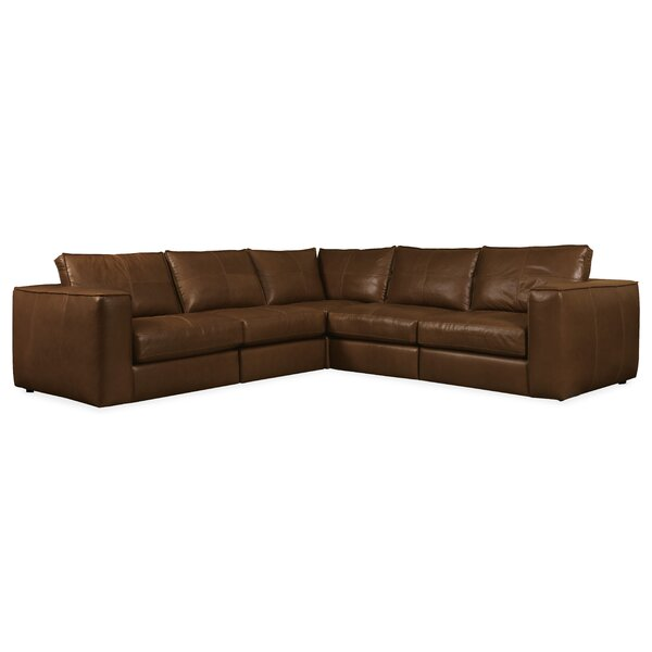 Solace Leather Symmetrical Sectional By Latitude Run