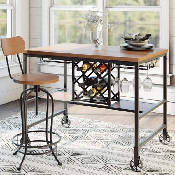 Elberton Rectangular Counter-Height Dining Table by Laurel Foundry Modern Farmhouse