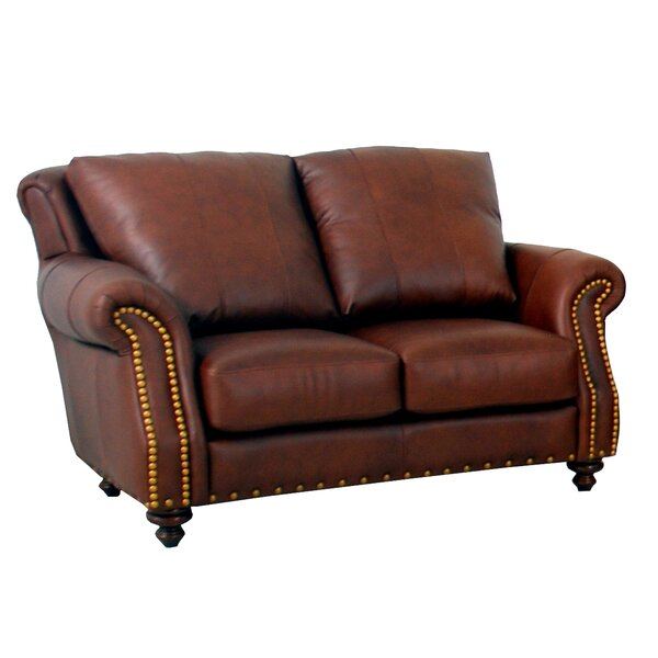 Low Price Randolph Leather Loveseat by Westland and Birch by Westland and Birch