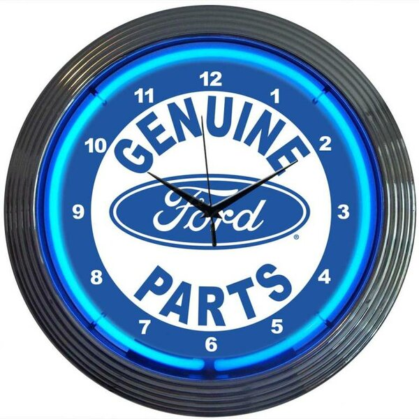 15 Ford Genuine Parts Wall Clock by Neonetics