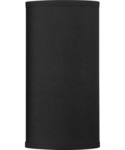 12 H Drum Wall Sconce Shade ( Screw On ) in Black