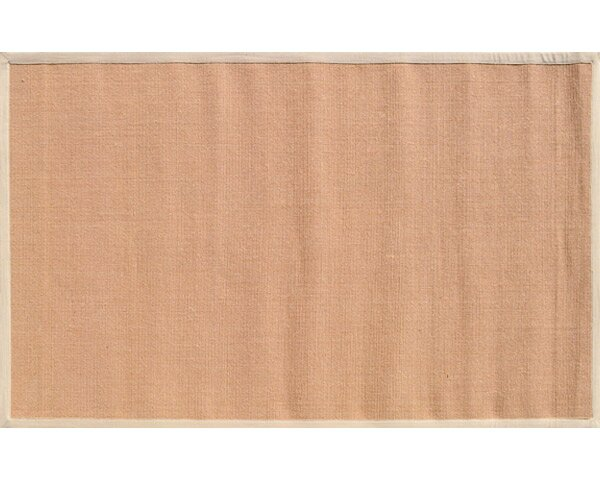 Bethany Hand-Woven Tan/Beige Area Rug by Threadbind