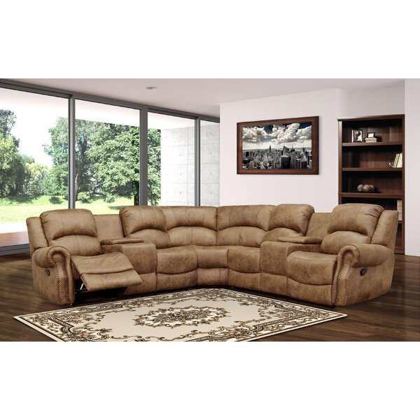 In Style Atharv Symmetrical Reclining Sectional by Red Barrel Studio by Red Barrel Studio