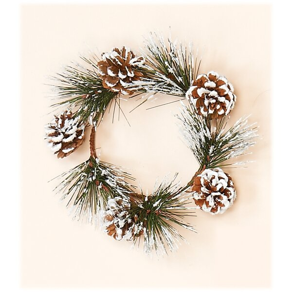 Snowy Pine and Cone Candle Wreath (Set of 2) by Three Posts