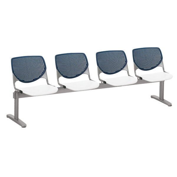 Lundell 4 Chair Beam Seating by Latitude Run