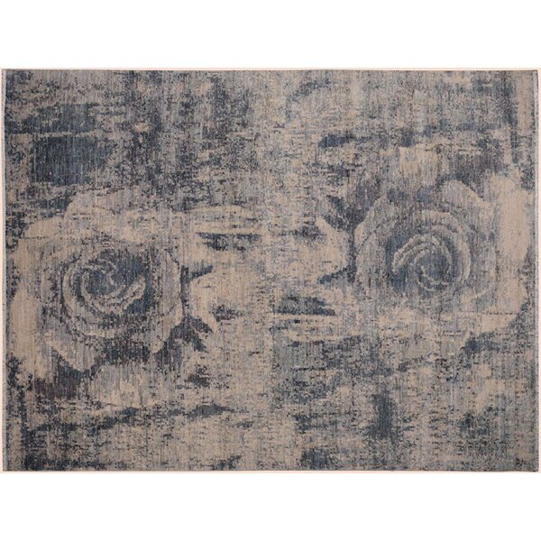 Adalrik Hand-Knotted Wool Light Gray/Ivory Area Rug by One Allium Way