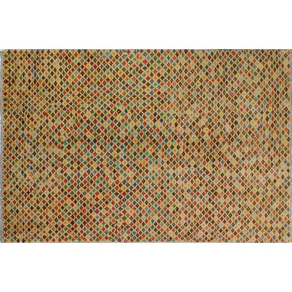 One-of-a-Kind Altoona Hand-Knotted Ivory Area Rug by Isabelline