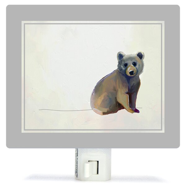 Baby Bear Sitting by Cathy Walters Canvas Night Light by Oopsy Daisy