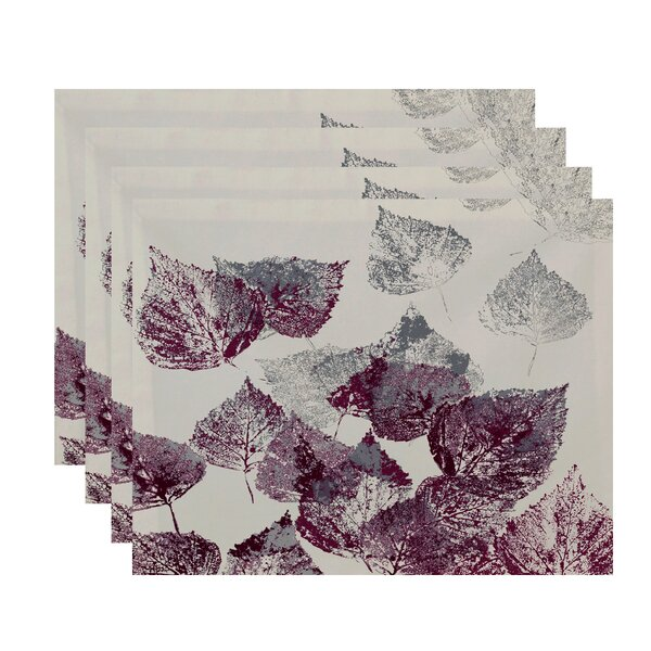 Miller Fall Memories Floral Print Placemat (Set of 4) by Alcott Hill