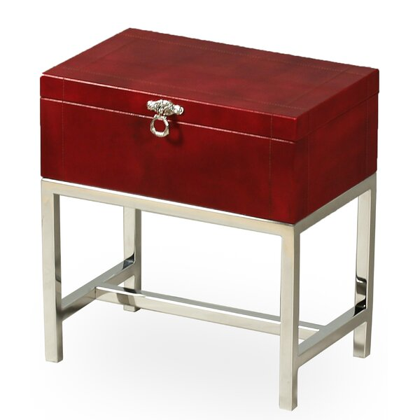 Pearce End Table with Storage by Sarreid Ltd
