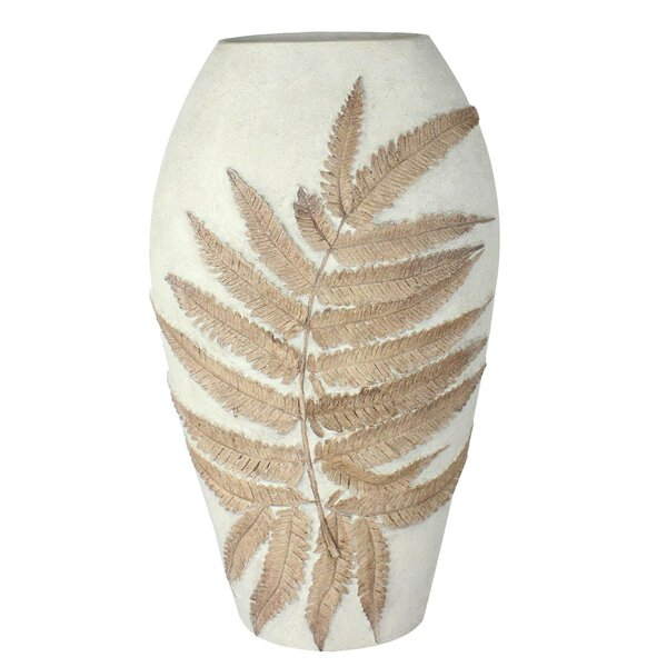 Eve Ceramic Fern Engraved Table Vase by Union Rustic