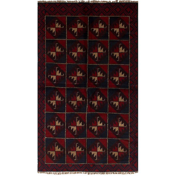 One-of-a-Kind Dix Hand-Knotted Wool Red Area Rug by Isabelline